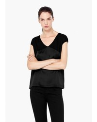 Mango Outlet V Neck T Shirt