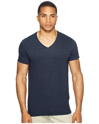 Scotch & Soda V Neck Tee In Jersey Melange Quality With Neps T Shirt