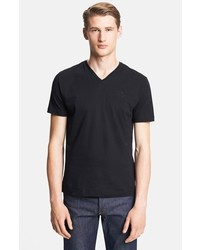 Versace Medusa V Neck T Shirt Black X Large
