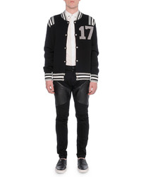 Givenchy 17 Knit Varsity Jacket Black