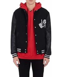 Adaptation La Wool Blend Leather Varsity Jacket