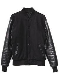 Reason Clothing Alma Mater Woolleather Varsity Jacket Bgr
