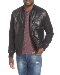 John Varvatos Star USA Billy Leather Varsity Jacket