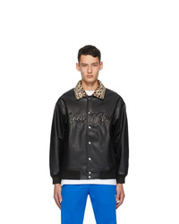Noon Goons Black Faux Leather Fly By Jacket