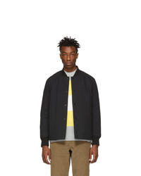 Rag and Bone Black Focus Bomber Jacket