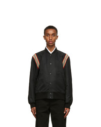 Burberry Black Harwell Tour Bomber Jacket