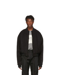 Fear Of God Black Sixth Collection Varsity Jacket
