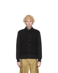 Givenchy Black Wool Blouson Bomber Jacket