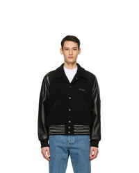 Acne Studios Black Wool Bomber Jacket