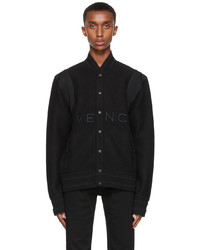 Givenchy Black Wool Bomber Jacket