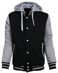 NE PEOPLE Casual Comfortable Varsity Baseball Jackets Hoodies