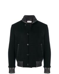 Saint Laurent Contrast Trim Varsity Jacket