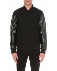 Boy London Contrast Wool Blend Varsity Jacket