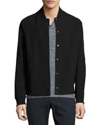 Theory Furg Sn Kingward Varsity Jacket Black