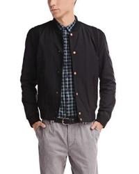 Hugo Boss Ojimm W Waxed Cotton Varsity Jacket 38r Black