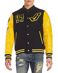 Billionaire Boys Club Leather Sleeve Varsity Jacket