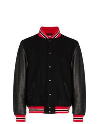 Palm Angels Leather Suede Varsity Jacket