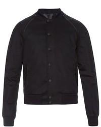 Alexander McQueen Leather Trim Varsity Jacket