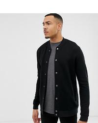 ASOS DESIGN Tall Bomber Jacket In Black