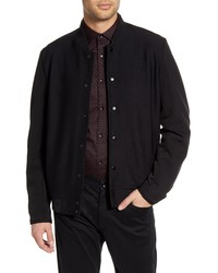 KARL LAGERFELD PARIS Textured Bomber Jacket