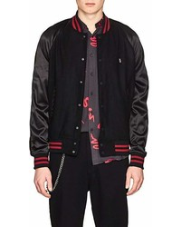 Ksubi The Bats Wool Blend Felt Varsity Jacket