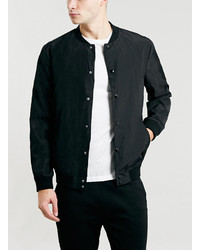 Topman Selected Homme Greaser Black Varsity Jacket