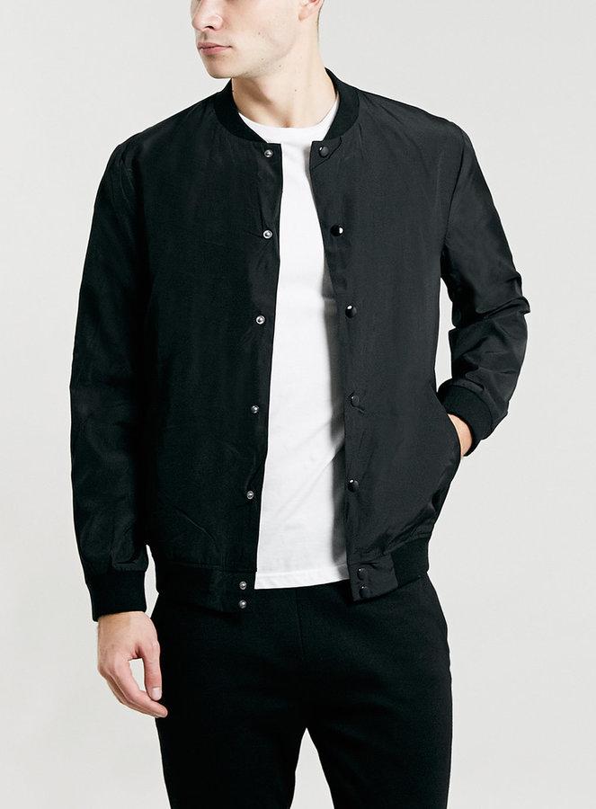 Topman Selected Homme Greaser Black Varsity Jacket Where To Buy