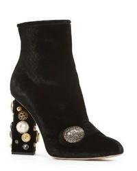 Dolce & Gabbana Dolcegabbana Pearl Statet Heel Bootie