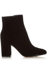 Gianvito Rossi Rolling Block Heel Velvet Ankle Boots