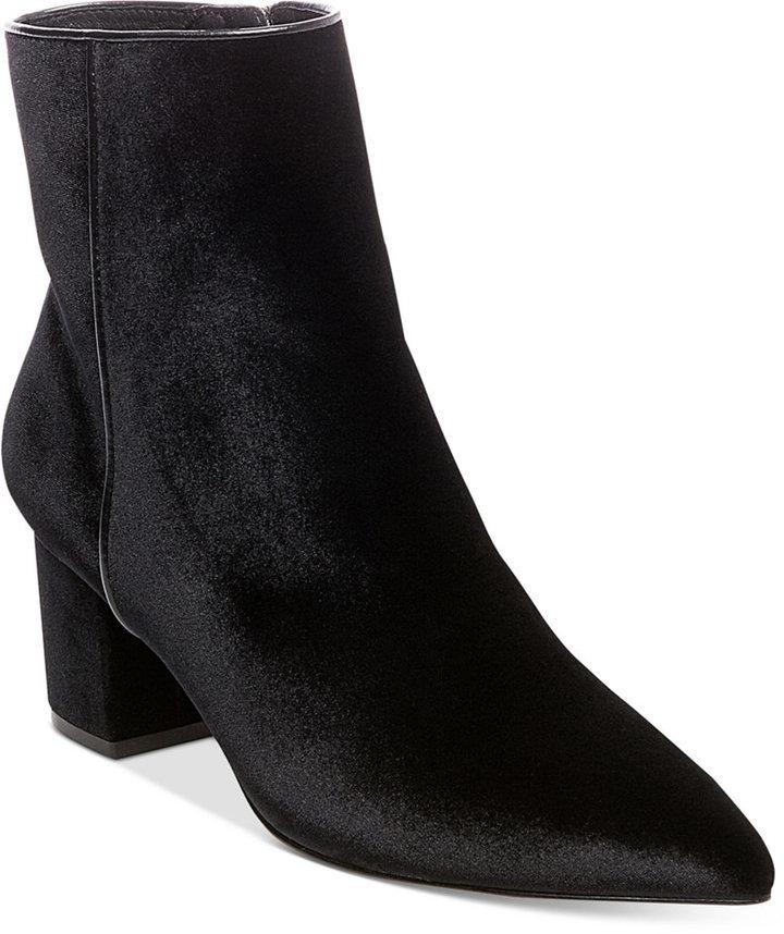960935902ca $149, Steven By Steve Madden Bollie Velvet Ankle Booties