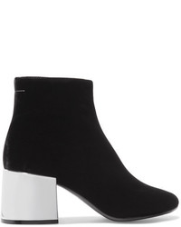 MM6 MAISON MARGIELA Velvet Ankle Boots Black