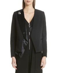 Asymmetrical velvet lapel blazer medium 8686734