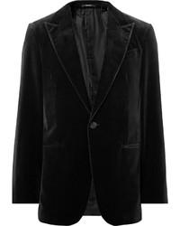 Ermenegildo Zegna Black Cotton Velvet Blazer