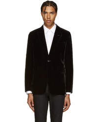 Black velvet blazer medium 590233