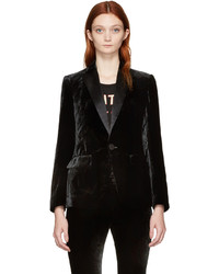 Dsquared2 Black Velvet London Blazer