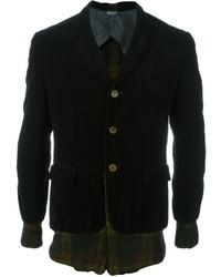 Comme des garons vintage tartan panelled velvet blazer medium 681265