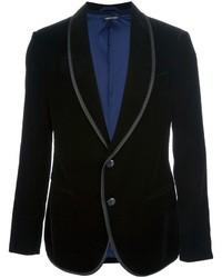 Giorgio Armani Contrast Trim Velvet Blazer