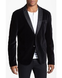 J dha black velvet sportcoat medium 9205