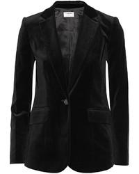 Frame Le Velvet Blazer Black