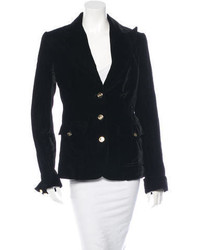 Dolce & Gabbana Long Sleeve Velvet Blazer