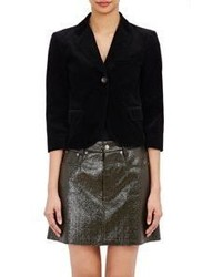 MM6 MAISON MARGIELA Velvet Shrunken Blazer Black