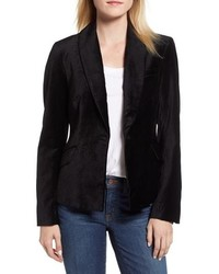Jen7 Stretch Cotton Velvet Blazer