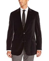 Tommy Hilfiger Dorsey Two Button Black Velvet Blazer