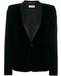 Saint Laurent Tuxedo Jacket With Square Cut Shoulders