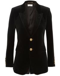 Saint Laurent Velvet Blazer Black