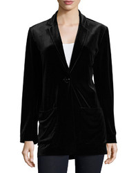 Velvet button front jacket medium 392915