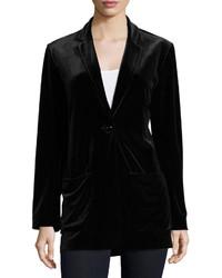 Joan Vass Velvet Button Front Jacket