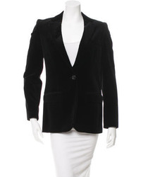 Chloé Velvet Single Button Blazer