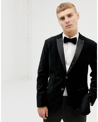 Selected Homme Velvet Tuxedo Jacket In Slim Fit