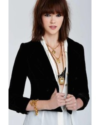 Chanel Vintage Troyes Velvet Blazer